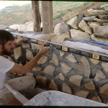 Laying cordwood
