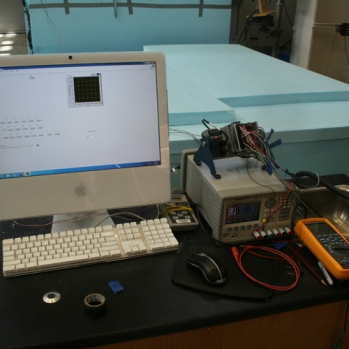 Data collection during curing of test panel