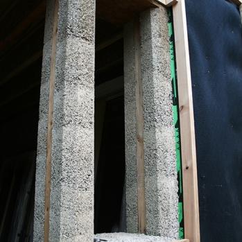 Hempcrete columns