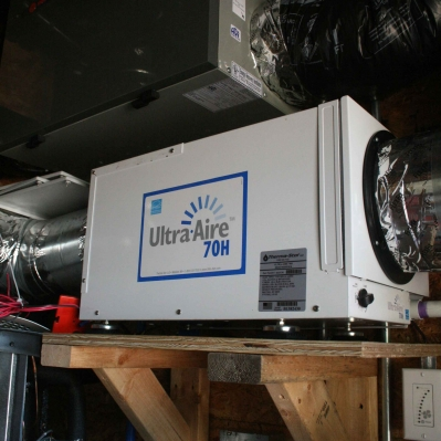 The mechanicals include an ERV, hot water heat pump, minisplit heat pumps...